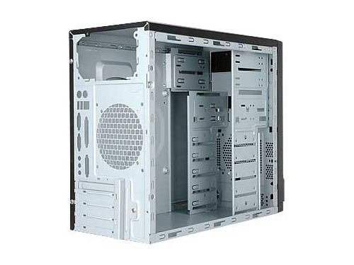 Корпус Inwin EMR016BS 450W, mATX, USB+Audio, черно-серебристый, вид 2