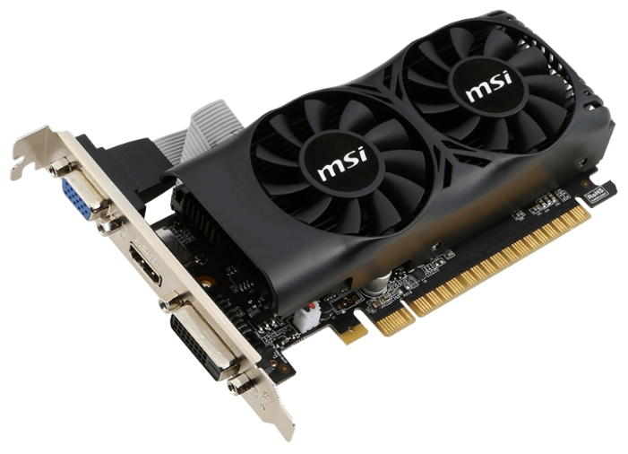 Видеокарта GeForce MSI GeForce GTX 750 Ti 1020Mhz PCI-E 3.0 2048Mb 5400Mhz 128 bit DVI HDMI HDCP N750TI-2GD5TLP