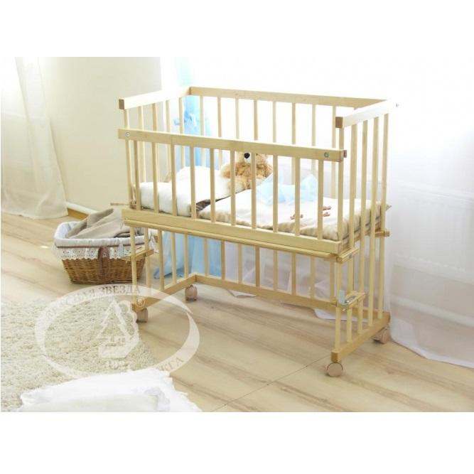 Детская кроватка Krasnaya-zvezda Можга Малуша С 751, слоновая кость