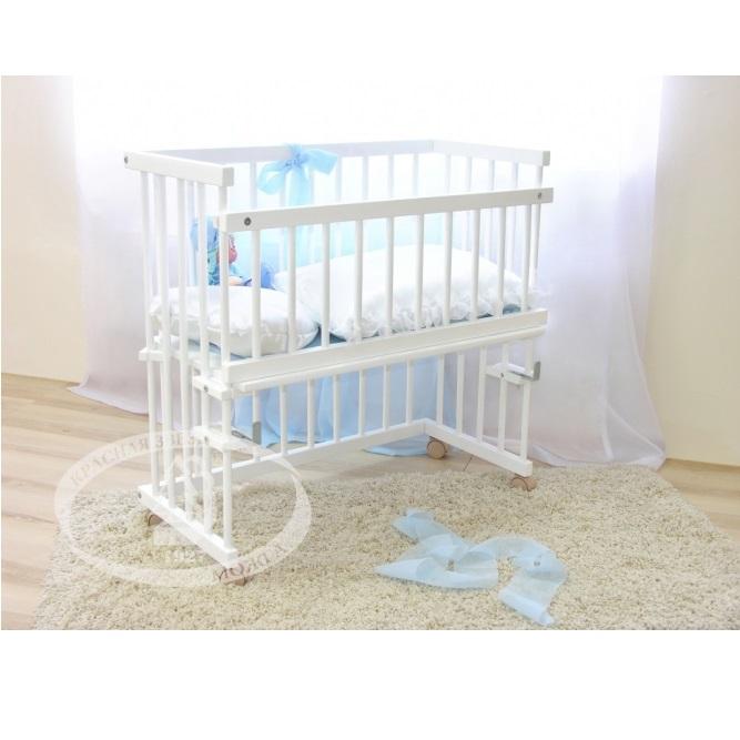 Детская кроватка Krasnaya-zvezda Можга Малуша С 751, белая С 751 Э/Белый