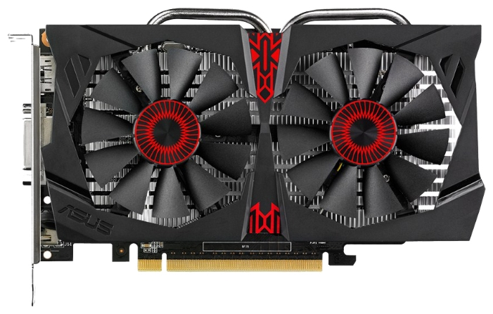 Видеокарта GeForce ASUS GeForce GTX 750 Ti 1020Mhz PCI-E 3.0 2048Mb 5400Mhz 128 bit DVI HDMI HDCP (STRIX-GTX750TI-2GD5)