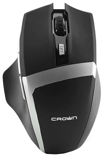 Мышка Crown Gaming CMXG-801 (оптическая, радиоканал, 2xAA, 6+1 кнопок), чёрная CM000001350