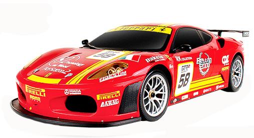 Радиоуправляемая модель MJX Ferrari F430 GT #58, красная