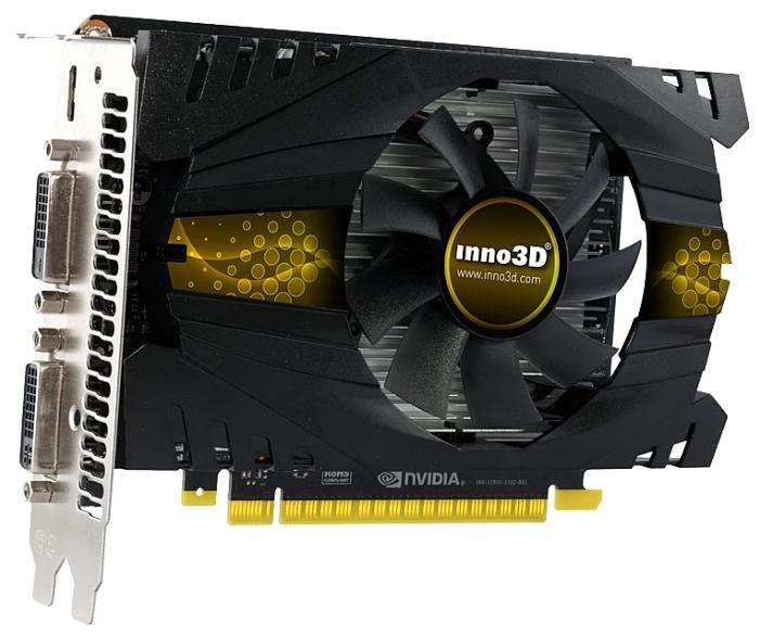 Видеокарта GeForce Inno3D GeForce GTX 750 Ti 1020Mhz PCI-E 3.0 2048Mb 5400Mhz 128 bit 2xDVI Mini-HDMI HDCP N75T-1DDV-E5CW