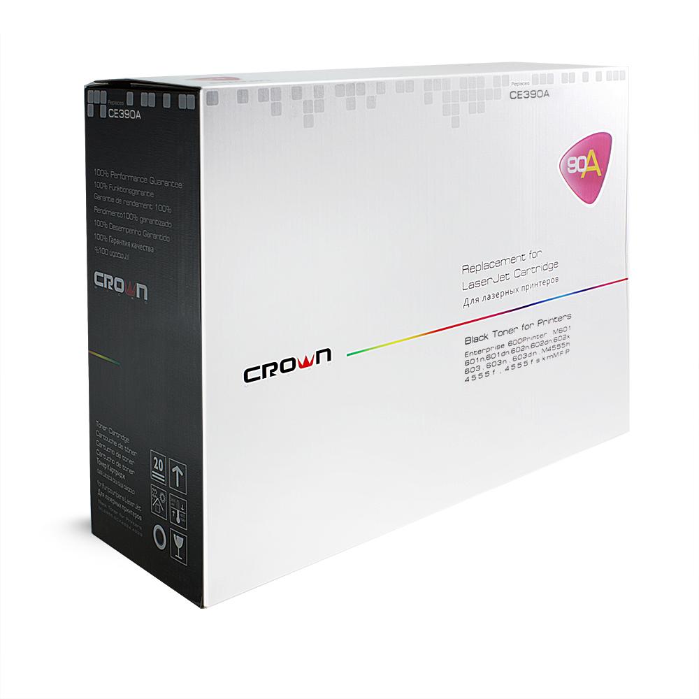 Картридж CROWN CM-CE390A, Чёрный (HP 90A) CM000001437