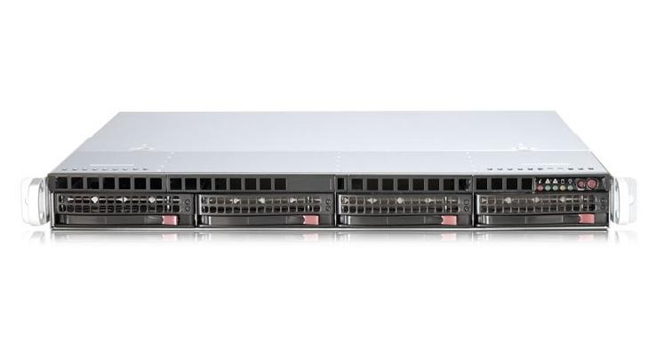 Серверная платформа Supermicro 1U SYS-6017R-TDF 440W