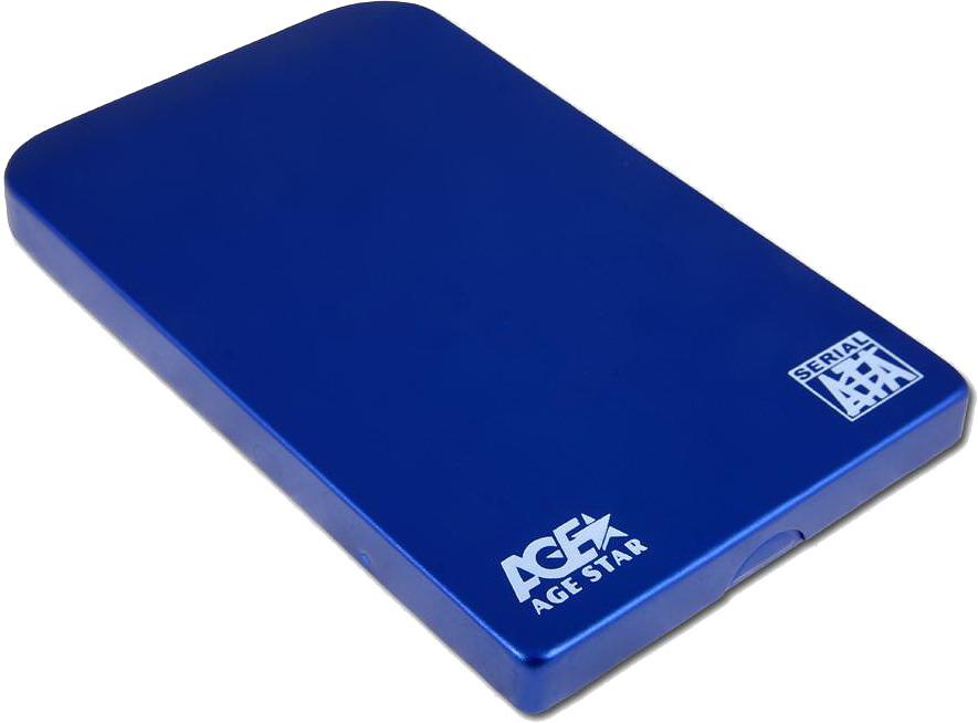 Корпус жесткого диска Agestar SUB2O1 (2.5'', miniUSB 2.0), синий SUB201 blue