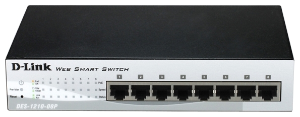 Коммутатор (switch) D-link DES-1210-08P/C1A