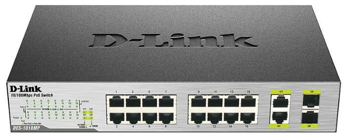 Коммутатор (switch) D-link DES-1018P