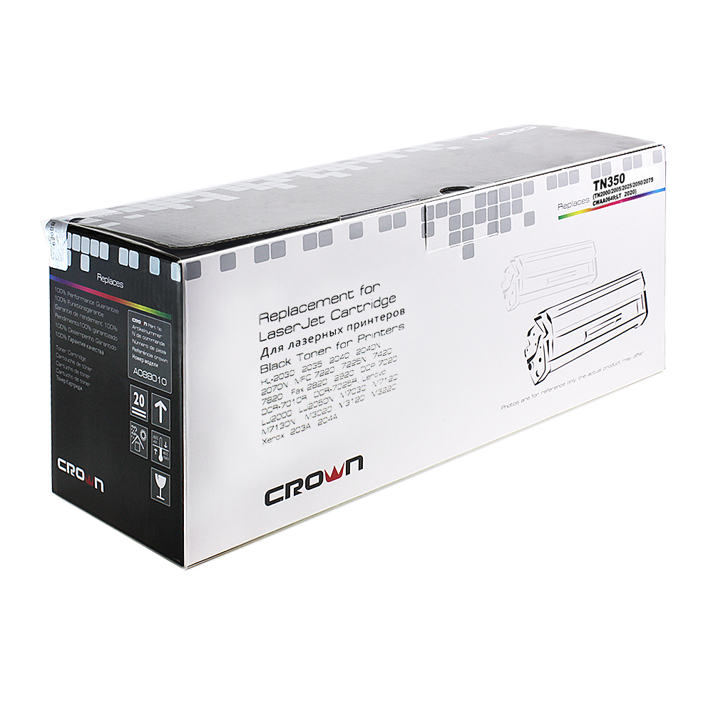 Картридж Crown CM-TN-350, лазерный, чёрный CM000001467