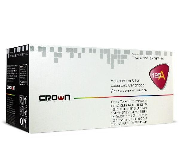 Картридж Crown CM-CB540A, лазерный, чёрный CM000001277