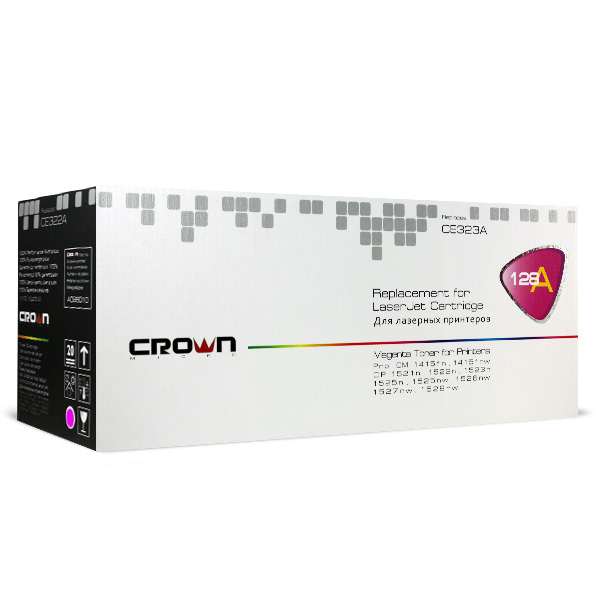 Картридж Crown CM-CE323A, лазерный, пурпурный CM000001284