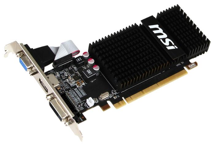 ���������� Radeon MSI Radeon R5 230 625Mhz PCI-E 2.1 2048Mb 1066Mhz 64 bit DVI HDMI HDCP R5 230 2GD3H LP