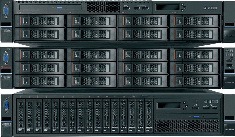 "Сервер Lenovo System x3650 M5 1xE5-2609v3 1x8Gb 2.5"" SAS/SATA M5210 1x550W 1.2V LP RDIMM, noHDD HS ( 5462E2G"