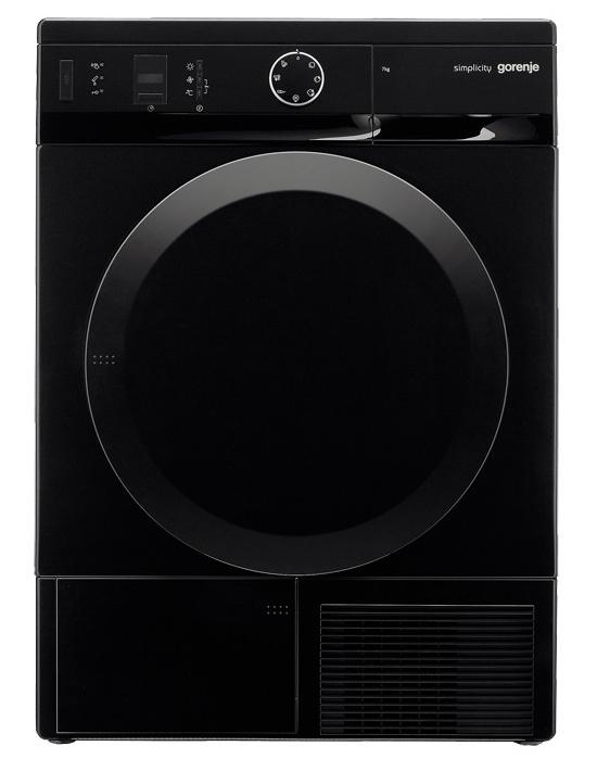 Сушильная машина для белья Gorenje D74SY2B, чёрная, загрузка до 7 кг, автомат