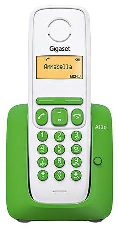 Радиотелефон Gigaset A130 зеленый с белым S30852-H2414-S306