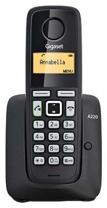 Радиотелефон Gigaset A220, Чёрный S30852-H2411-S301