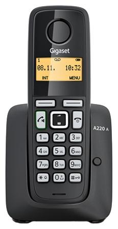 Радиотелефон Gigaset A220 AM, черный S30852-H2431-S301