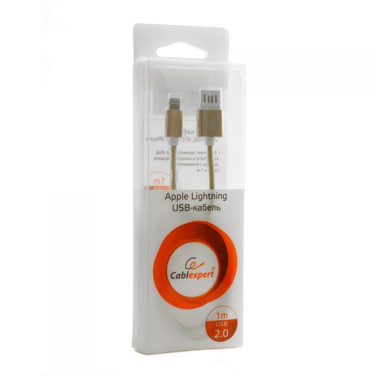 Gembird USB 2.0 Cablexpert (CCB-ApUSBgd1m) 1м золотой металлик