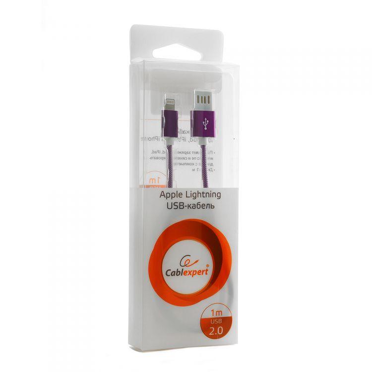 Gembird Gеmbird USB 2.0 Cablexpert (CCB-ApUSBs1m) 1м серебристый металлик