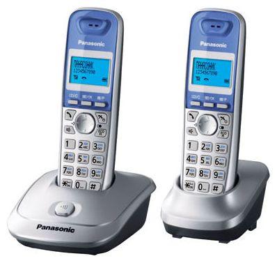 Радиотелефон Panasonic KX-TG2512RUS серебристый