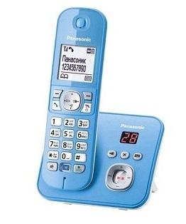 Радиотелефон DECT Panasonic KX-TG6821RUF голубой