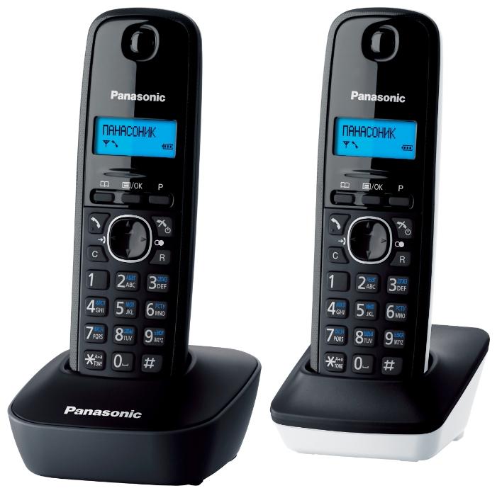 Радиотелефон Panasonic KX-TG1612RU1 тёмно-серый с белым