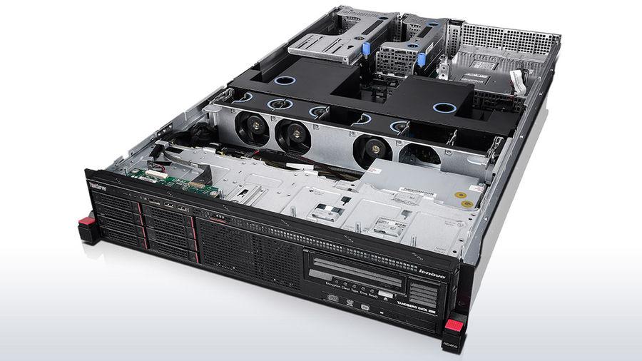 ������ Lenovo ThinkServer RD450 1xE5-2603v3 1x8Gb RW RAID 110i 1x750W Slide Rail Kit (70DA0002EA)