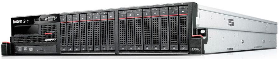 Сервер Lenovo RD640 2xE5-2660v2/4x8Gb /RW/Raid 710/2x800W (70AW0003RU)