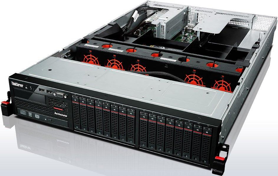 "������ Lenovo RD440 E5-2450v2/1x4Gb x16 2.5""/RW/Raid 710/2x800W max2 (70B3000LRU)"