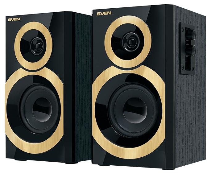 Компьютерная акустика Sven SPS-619, 2x10Вт, чёрный/золотой SV-011277