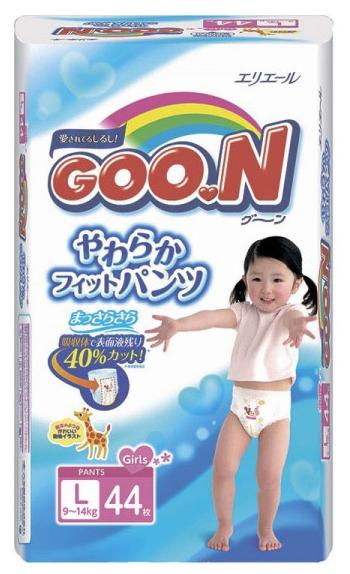 Подгузник Goon для девочек 9-14 кг. 44 шт. (L), трусики
