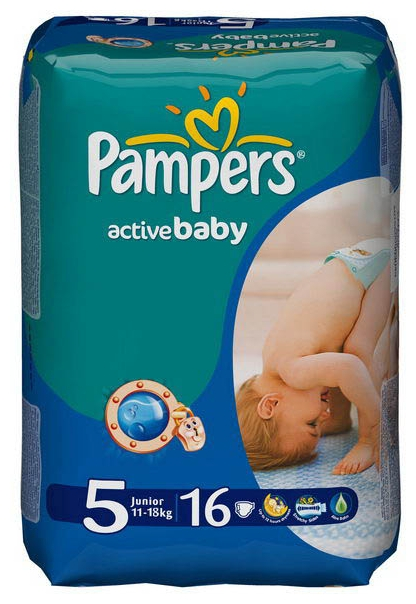 Подгузник Pampers Active Baby 5, 11-18 кг (16 шт)