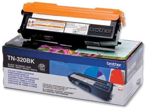 Картридж Brother TN-320BK Чёрный 2500 стр. TN320BK