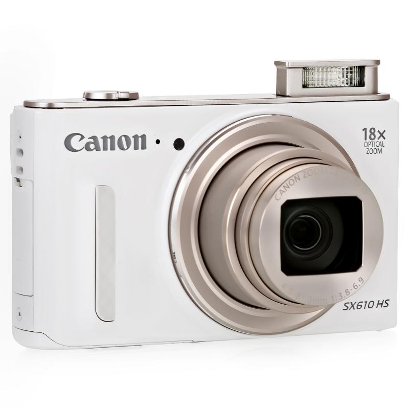 Цифровой фотоаппарат Canon PowerShot SX610HS белый 0112C002