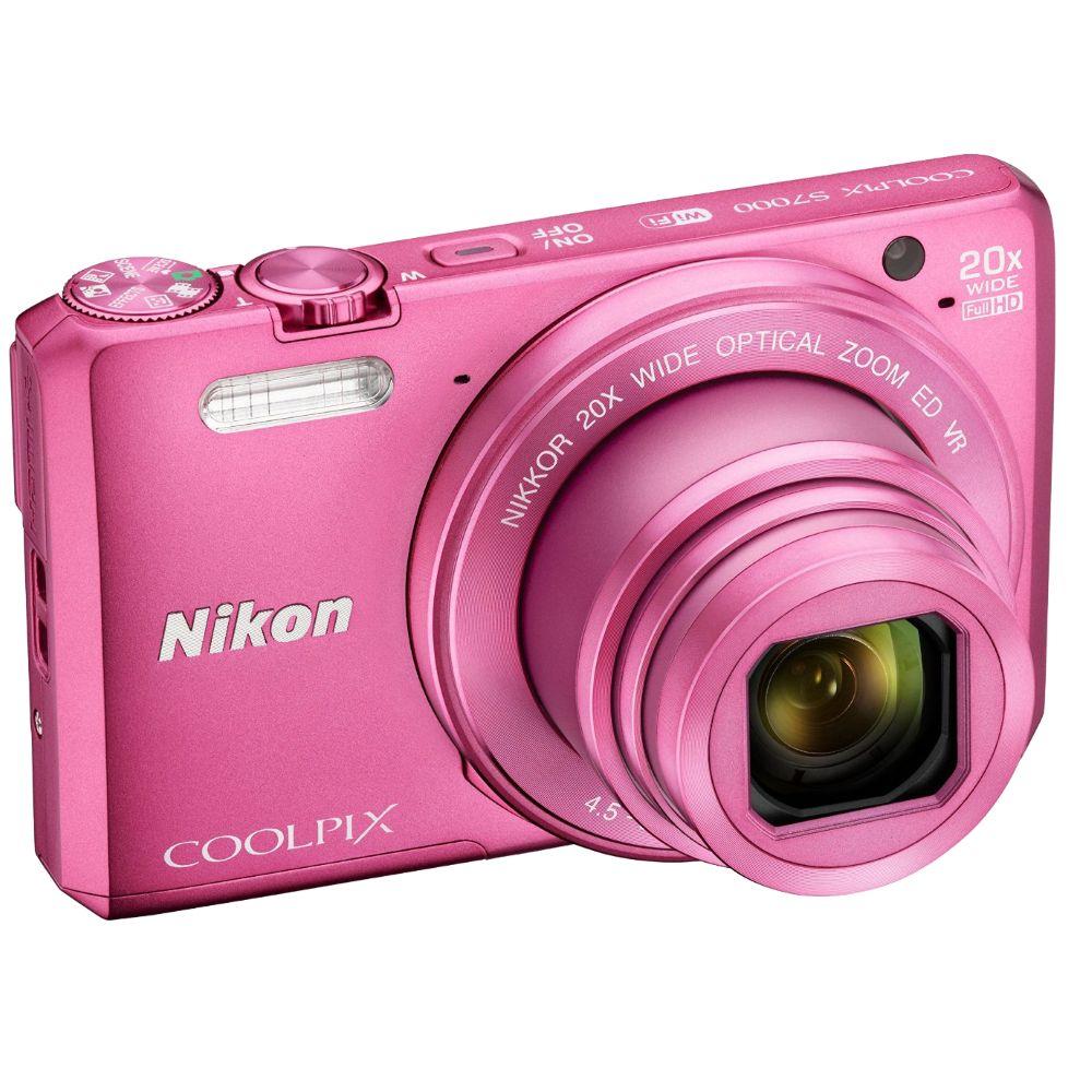 Цифровой фотоаппарат Nikon Coolpix S7000, розовый VNA803E1