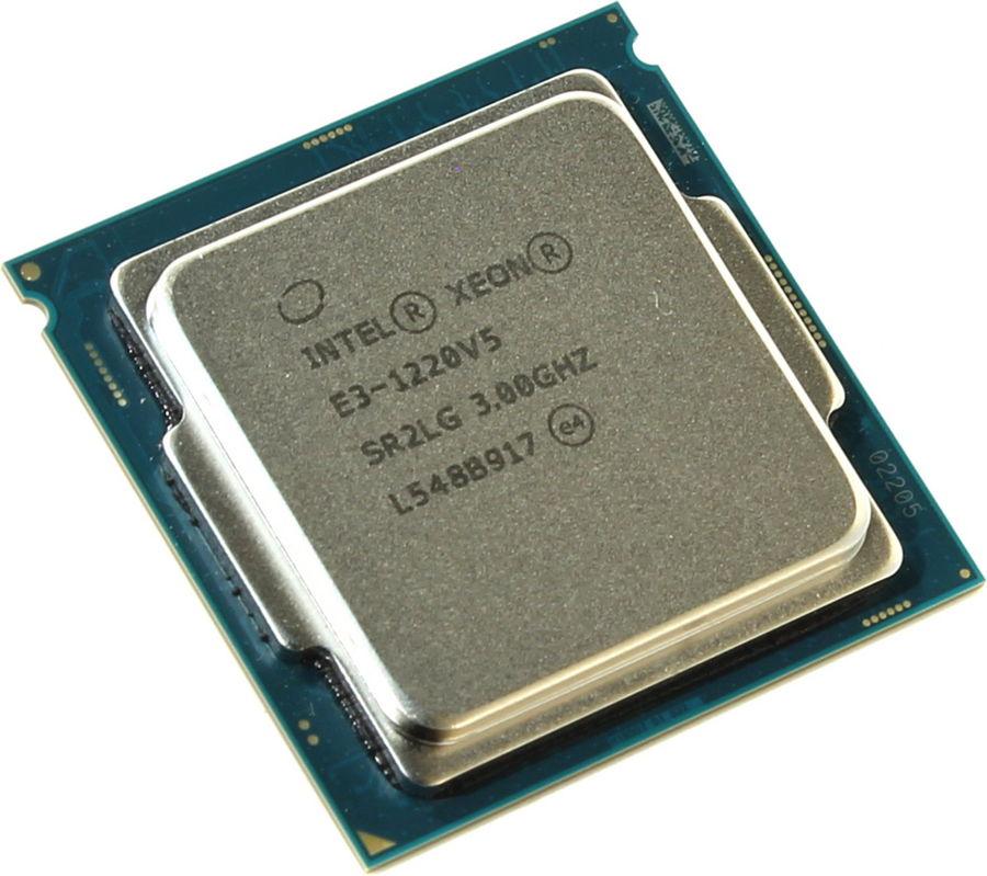 Процессор Intel Xeon E3-1220 V5 (3000MHz, LGA1155, L3 8192Kb, Retail) CM8066201921804
