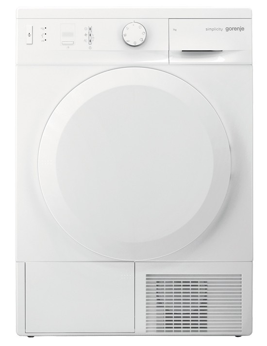 Сушильная машина для белья Gorenje D74SY2W, белая, загрузка до 7 кг, автомат