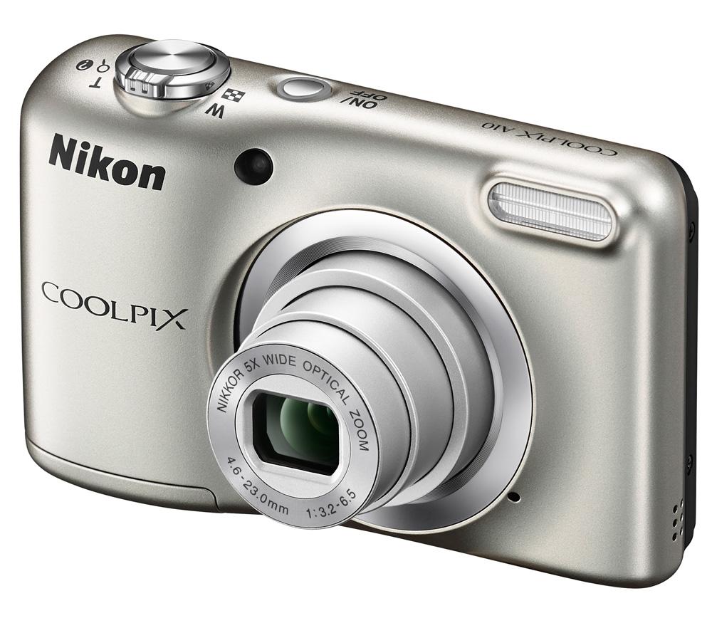 Цифровой фотоаппарат Nikon Coolpix A10, серебристый VNA980E1