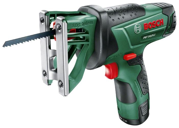 Электролобзик Bosch PST 10,8 LI 2.0Ah x1 Case (ручной, 500 Вт) [0.603.3b4.022] 06033b4022