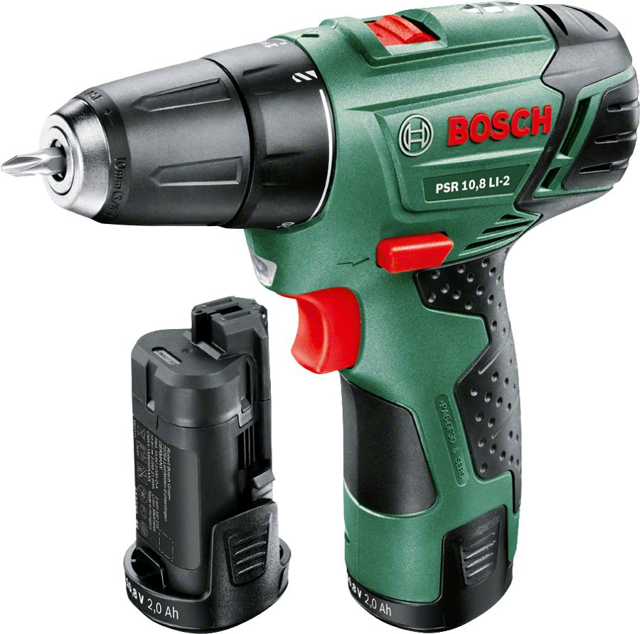 Дрель Bosch PSR 1080 (LI 2.0Ah x2) Case, [0.603.972.926] 0603972926