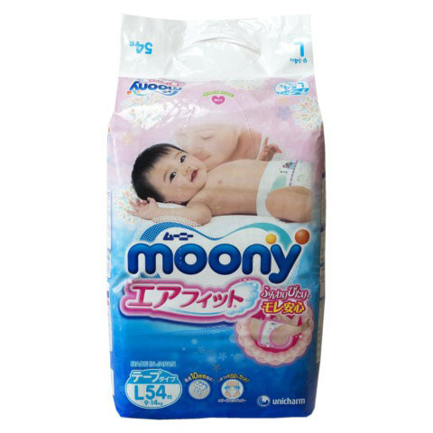 Подгузник Moony 9-14 кг (54 шт) L