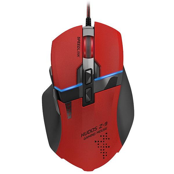 Мышка SPEEDLINK KUDOS Z-9 RED (USB), красная SL-6391-RD