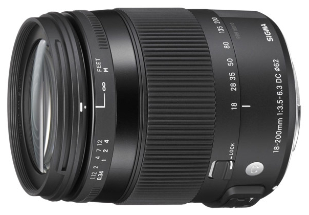 Объектив для фото Sigma AF 18-200mm f/3.5-6.3 DC MACRO OS HSM для Canon 885954
