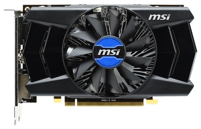Видеокарта Radeon MSI Radeon R7 250 800Mhz PCI-E 3.0 2048Mb 1800Mhz 128 bit DVI HDMI HDCP R7 250 2GD3 OCV1