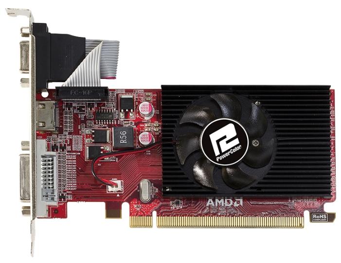 ���������� Radeon PowerColor Radeon R5 230 (1Gb GDDR3, DVI + HDMI + HDCP) AXR5 230 1GBK3-LHE