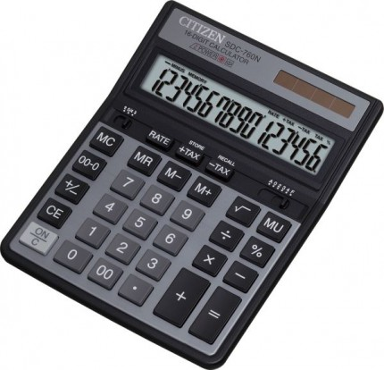 Калькулятор Citizen SDC-760N, 16-разрядный, черный SDC760N