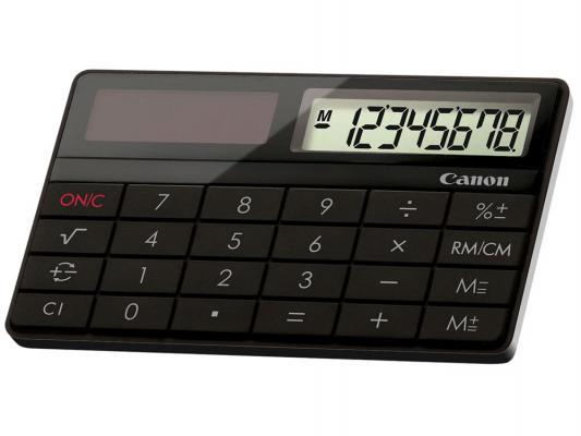 Калькулятор Canon X MARK I CARD 8-разрядный Чёрный X MARK I CARD BK
