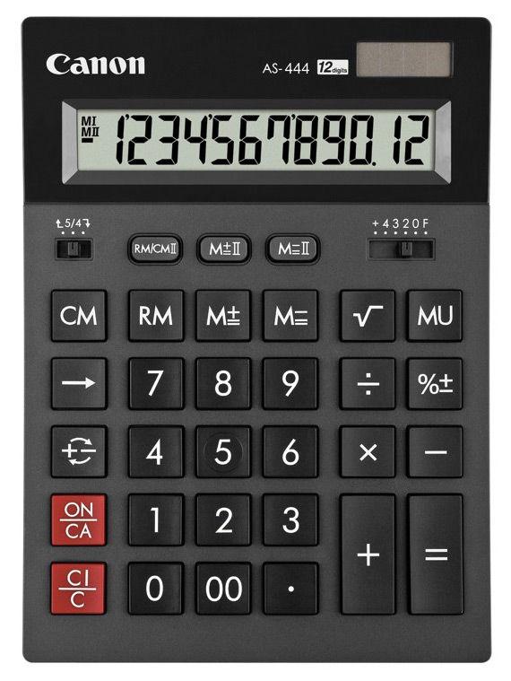 Калькулятор Canon AS-444 12-разрядный Чёрный