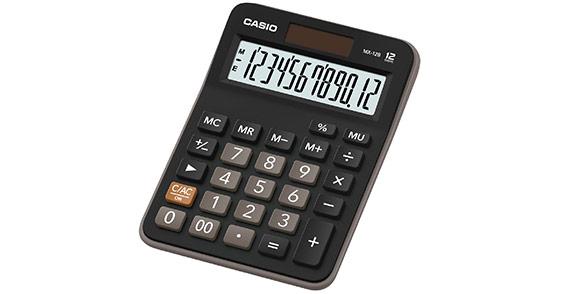 Калькулятор Casio MX-12B, 12-разрядный (черный)